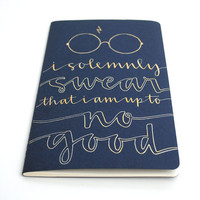 Harry Potter Journal Ravenclaw Edition Gold by sparrownestscript