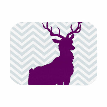 "Suzanne Carter ""Chevron Deer"" Purple  Place Mat"