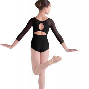 Keyhole 3/4 Sleeve Child Leotard CL9906 by Bloch