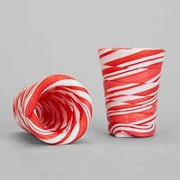 Candy Cane Shot Glass - Set Of 2- Assorted One