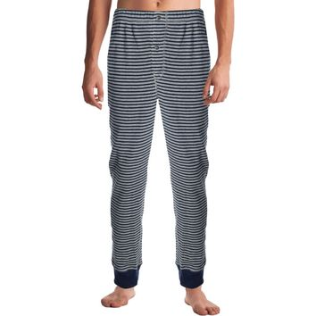Nautica Mens In The Navy Striped Banded Thermal Pants