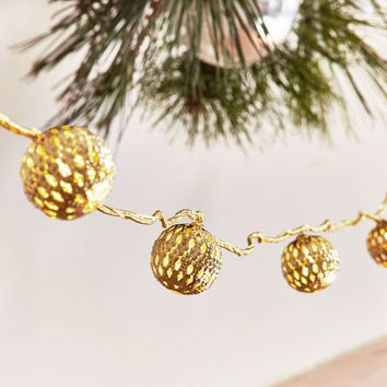 LED Gold Ornament String Lights