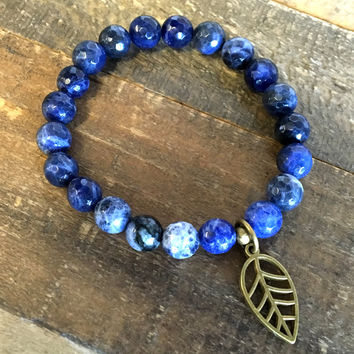 Faceted Sodalite 'Third Eye Chakra' Bracelet