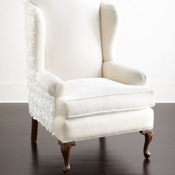 Haute House Priscilla Floral Wing Chair