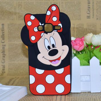 Cute 3D Cartoon Mickey And Minnie Mouse Soft Case Skin Cover For Samsung Galaxy J1 J3 J5 J7 2016 Version Multi Phone Model