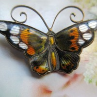 Vintage Sterling David Anderson Butterfly Pin Norway