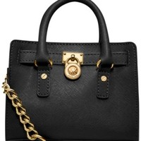 MICHAEL Michael Kors Hamilton Saffiano Leather E/W Satchel