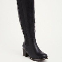 Faux Leather Knee-High Boots (Wide Width & Wide Calf)