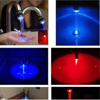 Popular style Temperature Sensor LED Light Water Faucet Tap 3 Color RGB Glow Shower [8045601543]