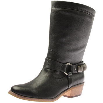 Baretraps Womens Perina Faux Leather Harness Cowboy, Western Boots