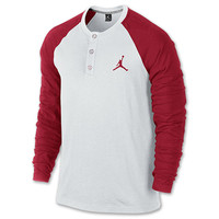 Men's Jordan Long-Sleeve Henley Shirt