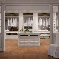 Venetian style solid wood walk-in wardrobe PEGGY Le Stanze del Doge Collection by Ca' d'Oro by GeD Arredamenti