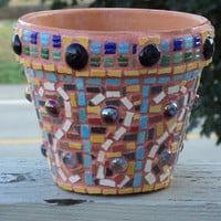 Flower Pot 6 Inch Mosaic