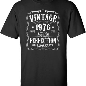 40th Birthday Gift For Men and Women - Vintage 1976 Aged To Perfection Mostly Original Parts T-shirt Gift idea. More colors available N-1976