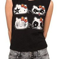 Hello Kitty Kiss Girls Crop Tank Top - 140486