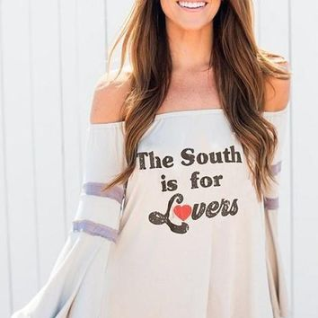 "JUDITH MARCH ""The South is For Lovers"" Graphic Tee FINAL SALE!"