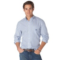 Chaps Classic-Fit Cliff's Bay Plaid Poplin Easy-Care Casual Button-Down Shirt