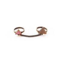 Tether Ring - Brass/Pink