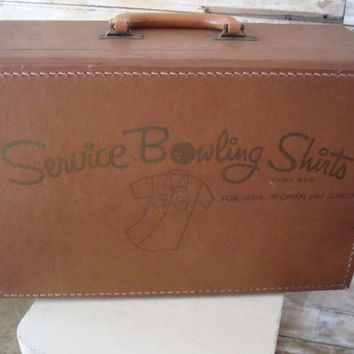 Vintage Leather Sample Case Bowling Shirt Sample Case RARE