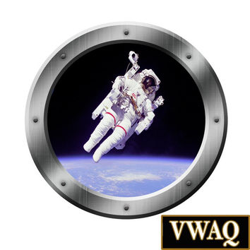 Astronaut Porthole Graphics Decals Window Kids Room Space Ship Peel N Stick VWAQ® PS1
