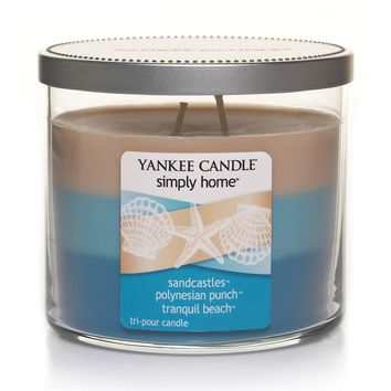 Yankee Candle simply home 10-oz. Sandcastles, Polynesian Punch & Tranquil Beach Soy Jar Candle