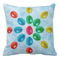 Sun of Easter eggs Throw Pillow