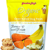 Grandma Lucy's Organic Dog Treat Banana & Sweet Potato 14 oz