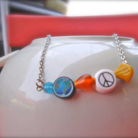 World Peace Hippie Chain Necklace