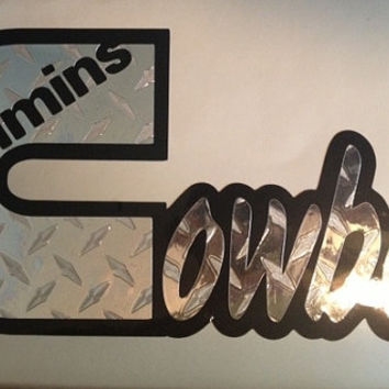 Cummins diesel dodge truck cowboy cowgirl custom vinyl decal sticker  laptop auto window 4x4