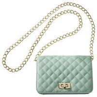 XHILARATION Mint Small Quilted Crossbody
