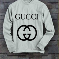 GUCCI Casual Long Sleeve Sport Top Sweater Pullover Sweatshirt