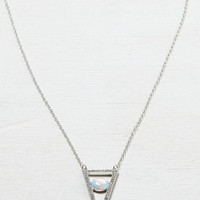 AEO Women's Triangle & Pendant Necklace (Silver)