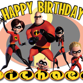 Personalized Custom Birthday T-shirt Disney Movie The Incredibles
