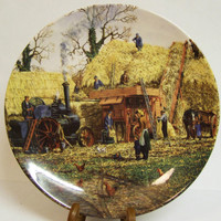 "Danbury Mint Wedgwood Collectors Plates ""Threshing"" by Michael Herring"