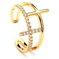 Amelia Stackable Gold Plated Rings
