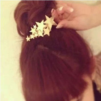 1 PCS Star Hair Clip Barrettes Hairpin Bobby Pin Jewelry Hair Accessories for Women Lady Girls Gold/ Silver color