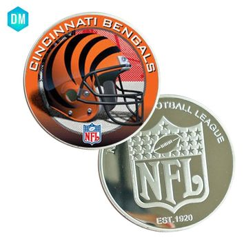 Last Souvenir Gifts US CINCINNATI BENGALS Team NFL Commemorative 999.9 Silver Plated Coin Christmas Gifts