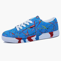 Textile Lace up Round Toe Cozy Sneakers