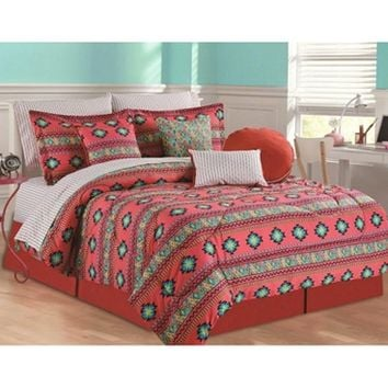 Rampage Azure Twin XL Comforter Set - 4 Piece Set