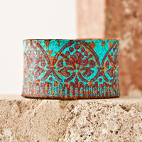 Turquoise Jewelry / Leather Cuff - Bracelet - Wristband - Southwest - Southwestern - Accessories Summertime - July 4th - cij