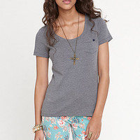 Nollie Scoop Neck Solid Pocket Tee at PacSun.com