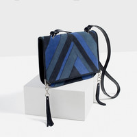 LEATHER PATCHWORK CROSSBODY BAG