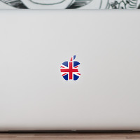 MacBook Logo Sticker UK Flag