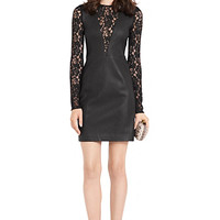 Kameela Leather and Lace Dress