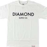 Diamond Classic Tee Small White/Black