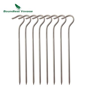 Boundless Voyage Titanium Tent Pegs Outdoor Camping Tent Stakes Canopy Nail  Ground Pin Tent Accessories