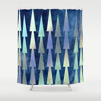 In the Christmas forest Shower Curtain by artdekay880