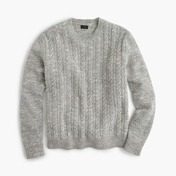 J.Crew Mens Italian Wool Cable Sweater