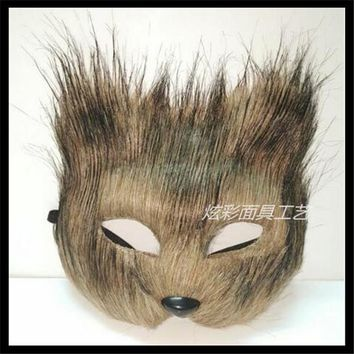Cute Funny Furry Face Critter Masks Mask Party Animal Arctic Fox Mask Cosplay