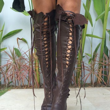 Hand made leather boots